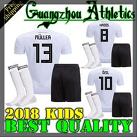 Wholesale Soccer Jersey Germany - thai qualit 2018 Germany kids soccer jerseys 2018 home Germany jersey shirt customize MULLER OZIL GOTZE REUS KROOS HUMMELS Children kit