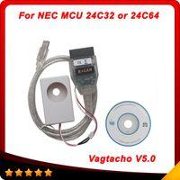 Wholesale Nec Mileage Programmer - 2016 USB Vagtacho USB Version V5.0 Vag tacho 5.0 VAG OBD2 Diagnostic Tool For NEC MCU 24C32 EEPROM IMMO PIN Mileage Correction