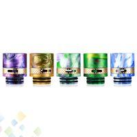 Wholesale e flow resale online - Airflow Epoxy Resin Brass Drip tips Wide Bore Drip tip Air Flow Control Mouthpiece Fit Vapes TFV8 TFV12 E Cig DHL Free