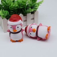 Wholesale Penguin Key Chain - Factory Christmas Penguin Squishy Penguin Squishy Simulation Food For Key Ring Phone Chain Toys Gifts All Kinds Of Style