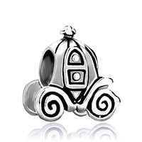 Wholesale women pumpkin - Fashion women jewelry metal Jackolantern Halloween Cinderella Pumpkin Carriage European spacer bead charm fits Pandora bracelet