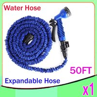 Wholesale Nozzles For Expandable - New Expandable & Flexible Plastic Hose Water Garden Pipe With Spray Nozzle For Car Wash Pet Bath Original 50FT RW-WH-02
