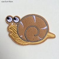 Wholesale Iron Patch Pig - 5cm*8cm New fashion Pig cartoon snails Badge Iron on Patches of Stickers, Soccer team Woven Label Patch Wholesale, DIY Cloth Accessories