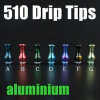 Wholesale aluminium tips - Aluminium Vase 510 Drip Tips Splash Colors Mouthpieces For E Cigs Suit Big Dripper V1 Subtank Nano Atomizer FJ518