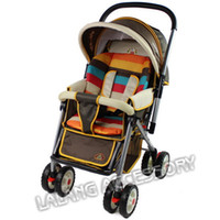 Wholesale Twins Baby Car - FG1509 1PC Waterproof Baby Stroller Cushion Stroller Pad Pram Padding Liner Car Seat Pad Rainbow General Cotton Thick Mat BZ870139