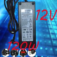 mejores fuentes de alimentación al por mayor-Adaptador de fuente de alimentación 12V 10A Adaptador 12V 120W 10pcs Lote Alta calidad Envío expreso 120W Adaptador CE RoHS FCC UL mejor calidad