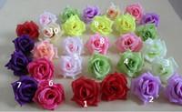 Wholesale Camellia Silk Flower - Rose head Diameter 7-8cm Artificial Flowers Silk Camellia Rose head100p Artificial Silk Camellia Rose Flower Head FB003