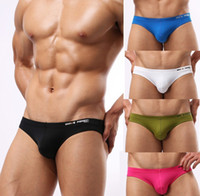 Wholesale Nylon Bikini Pink - Brave Person Men's Army Green Brief Underwear underwear Mens Bikini Swimsuit swim brief 5 Color Special offer Free shipping
