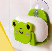 Wholesale soap Carton Print Dish Cloth Sponge Holder With Suction Cup Mini Bathroom Shelves Soap Holder