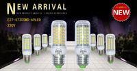 Wholesale G9 New - 2x LED Corn Light E27 Bulbs 18W 3000 Lumen Cree SMD 5730 With Cover 69 LEDs GU10 E14 B22 G9 Warm Pure White 220V 230V 240V 2015 New Arrival