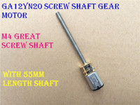Wholesale M4 Motor - 2PCS GA12YN20 M4 Great Screw Gear Motor Micro Thread Motor DIY Miniature DC Motor With 55mm Length Shaft
