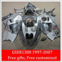 Wholesale Hayabusa Painted Fairing Kits - Original Painting Motor Parts Of Suzuki GSXR 1300 97 98 99 00 01 02 03 04 05 06 07 GSXR-1300 GSXR1300 Hayabusa Fairing Kits Silver Gray