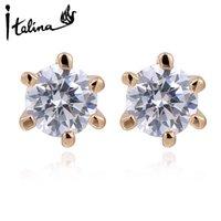 Wholesale Italina Earrings - Italina new Austrian crystal earrings earrings elegant women STELLUX high quality zirconia girl Joias # RG85336