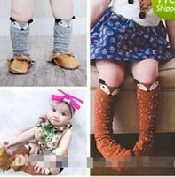 Wholesale Baby Knee Pads For Girls - meias infantil unisex animal fox baby leg warmers socks for kids girls patterne bambina calentadores piernas knee pads for children 2015 BY0