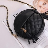Wholesale Tassel Pu Hobo - New Candy color tassel chain small bags girls messenger bag leather crossbody bags handbags