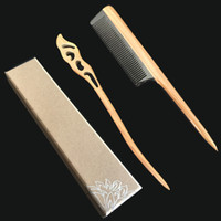 Wholesale Sandalwood Carvings - Hair Stick Hairpin , Hair Comb With Gift Box Kit for Women Sandalwood Wood Handmade Jewelry Fashion Hair Styling Accessory Carved Shawl Pin