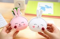 Wholesale Silicone Wallet Zipper - Wholesale- Super Kawaii Little Rabbit Silicone Coin Bag , 12*10CM Hand Coin Wallet Purse Pouch ; Lady Girl's Gift Pocket BAG Case Holder