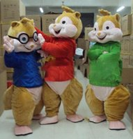 Wholesale Red Theme Mascot - Mascot Park Alvin Aad The Chipmunks Mascot Costume Fancy Dress Custom Fancy Costume Theme Mascotte Carnival Costume Kits