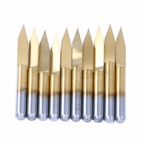 Wholesale Diamonds Drill - 10x Titanium Coated Carbide PCB Engraving CNC Bit Router Tool 30 Degree 0.1mm-0.3mm