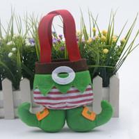 elf yılbaşı çantası toptan satış-Yüksek kaliteli Noel şeker çanta elfler parti dekorasyon Güzel çanta Moda Noel Hediyesi 120 adet / grup IC836