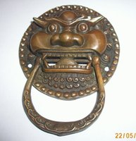 Wholesale cheap Large Chinese Bronze Foo Dog Foo Lion Door Knocker