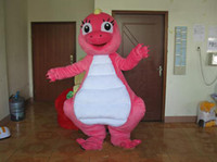 Wholesale Xxl Hot Lovely - 2018 Hot sale Lovely Pink Dragon cartoon doll Mascot Costume Free shipping