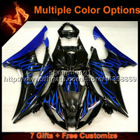 Wholesale R6 Cowl - 23colors+8Gifts BLUE motorcycle cowl for Yamaha YZF-R6 2008-2015 YZFR6 2008 2009 2010 2011 2012 2013 2014 2015 ABS Plastic Fairin