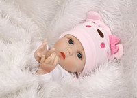 Wholesale rubber dolls child resale online - Soft Body Silicone Reborn Baby Doll Toy for Girls NewBorn Baby Birthday Gift To Child Bedtime Early Education Christmas Gift Accessories
