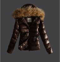 Wholesale Dress Parka - Wholesale-Winter Brand Womens snowimage Duck Down Parka With Real Rabbit Fur Collar Thicken Long Dress Coat Jacket Outwear de inverno 2015