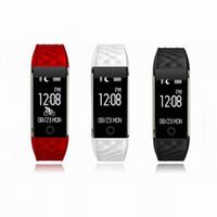 ingrosso braccialetto promemoria-Wristband del braccialetto di frequenza cardiaca della Smartband Bluetooth4.0 Wristband IP67 Impermeabile Smartband Fitness Tracker Orologio da polso Fitbit Vita per IOS Andriod