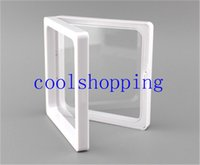 Wholesale Collections Photos - DHL Freeshipping clear plastic membranes photo frame display  collection box jewelry box 9x9x2cm