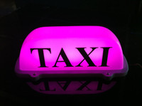 Auto Taxi Top Light / Neu LED Dach Taxi Zeichen 12V mit Magnetfuß, pink / weiß optional