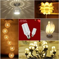 Wholesale 42led Smd - Ultra Bright SMD5730 E27 B22 E14 LED Lamp 5W 10W 15W 20W 360 angle SMD Bulb Corn Light 24LED 42LED 60LED 84LED 110-240V