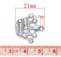 30Pcs Hot New DIY Silver Tone Rhinestone Crown Charm Pendants Componente 21x20mm N225 Charms Cheap Charms