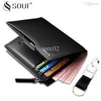 Wholesale Cowskin Leather Wallets - SOUF Men's Wallet + Cowskin Male Genuine Leather Wallet