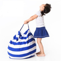 Wholesale Beanbag Beds - Plush Toys Storage Bags With Handle Zipper 43cm 4 Colors Canvas Stuffed Animal Dolls Organizer Beanbag Chair Kids Large Capacity Buggy Bags