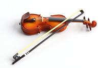 geige musikinstrumente großhandel-Freies Verschiffen Mini Violine Action Figure 1/16 gemalte figur Mini Musikinstrument Violine Puppe PVC ACGN figur Garage Kit Spielzeug
