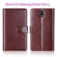 cubre estilo galaxia nota al por mayor-Al por mayor-Funda de piel para Samsung Galaxy Note 4 Note 3 Note 2 Multifunción Wallet Style Flip Phone Funda magnética trasera con ranuras para tarjetas