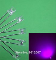 100 x LED 3MM UV Purple Flat Top Urtal Ampoule à grand angle lumineuse Lampe LED F3MM Emitting Diodes Wholesale ElectronicComponents