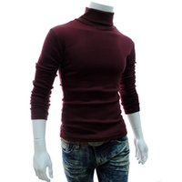 Wholesale Thermal Turtleneck Sweater - Wholesale-2016 NEW Men Winter Warm Turtleneck Pullover Thermal Sweater Multi color option Solid design Soft and Warm