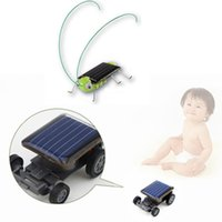 Wholesale Mini Solar Toys - New Cute Solar Power Robot Insect Bug Locust Grasshopper Toy Solar Power Mini Toy Car Moving Racer Teaching Gadget