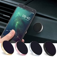 Wholesale Silver Plated Stand - Metal Universal Car Mobile Phone Holder Magnet Aluminum Cell Phone Magnetic Plate Silicone Sucker Mount Stand For All Phone