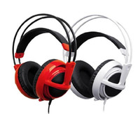 Wholesale Siberia Gaming Headphones - 2016 New SteelSeries Siberia v2 Full-size DJ Gaming Game Black White Red Blue headphone headset without boxTop Free Shipping