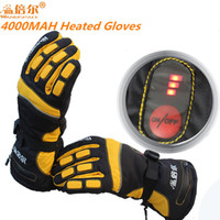 Wholesale Heat Finger - WARMSPACE PRO Waterproof Electric Heating Gloves With 3.7V 4000MAH Battery Gloves Whole Hand Warm For Winter Outdoor