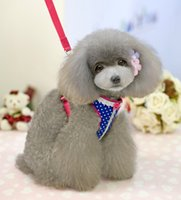 Wholesale Draw Teddy - Free shipping Pet Apparel!Leisure dogs clothing,pet dogs dot chest straps drawing rope,Teddy  poodle dog clothing Supplies.3 pcs.F