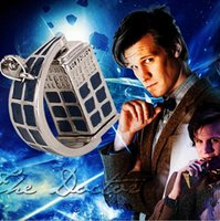 Wholesale Hot Acessories Wholesale - Doctor Who Necklace Movie Pendant Dr Who Turning Necklace Doctor TRADIS Hot sale acessories Police Box Europe style