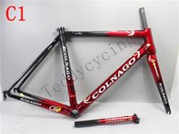 Wholesale 54cm road bike frame - 18 colors 2018 HOT SALE C60 carbon road frames carbon frame 46 48 50 52 54 56cm T1000 carbon bike frames C1 DPD duty free shipping