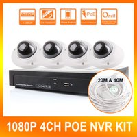 Wholesale Security Cameras Vandal Proof Dome - 2.0MP Home Security 4CH HD 1080P POE Dome IP Camera CCTV NVR System 4 Channel POE NVR Kit Video Surveillance System,Vandal-Proof