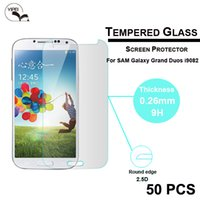 Wholesale Screen Guard Grand Duos - 9H Hard Screen Protector Guard 2.5D Round Border glass protective film Tempered Glass For Samsung Galaxy Grand DUOS 9082 DHL