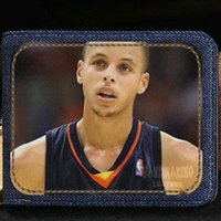Stephen Curry porte-monnaie MVP joueur porte-monnaie Basket-ball star courte note porte-monnaie Money notecase sac en cuir burse Porte-cartes